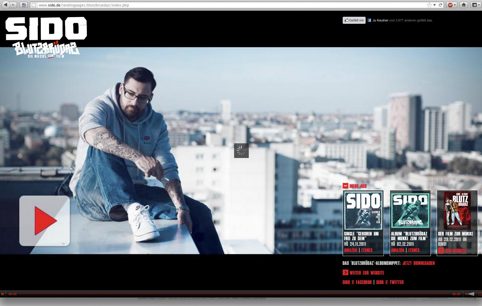 Fotodokumentation Musikvideo Sido Geboren Um Frei Zu Sein