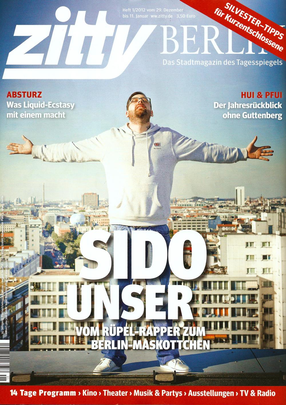 SIDO geboren um frei zu sein - Cover - Zitty Berlin 01/2012