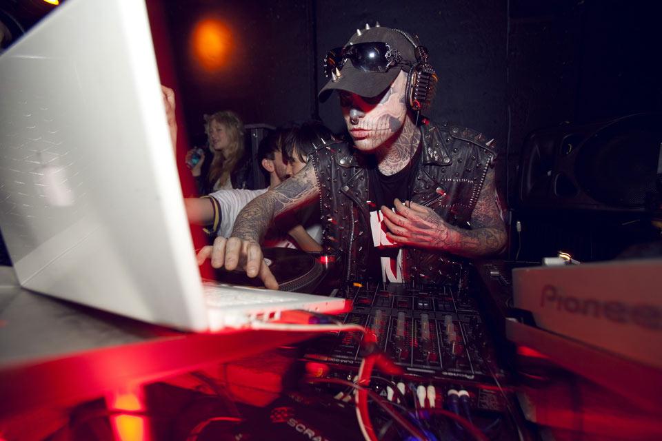 "Rick Genest aka ""Zombi"" at SOTO x Stüssy Holden Party at Flamingo Club Berlin"