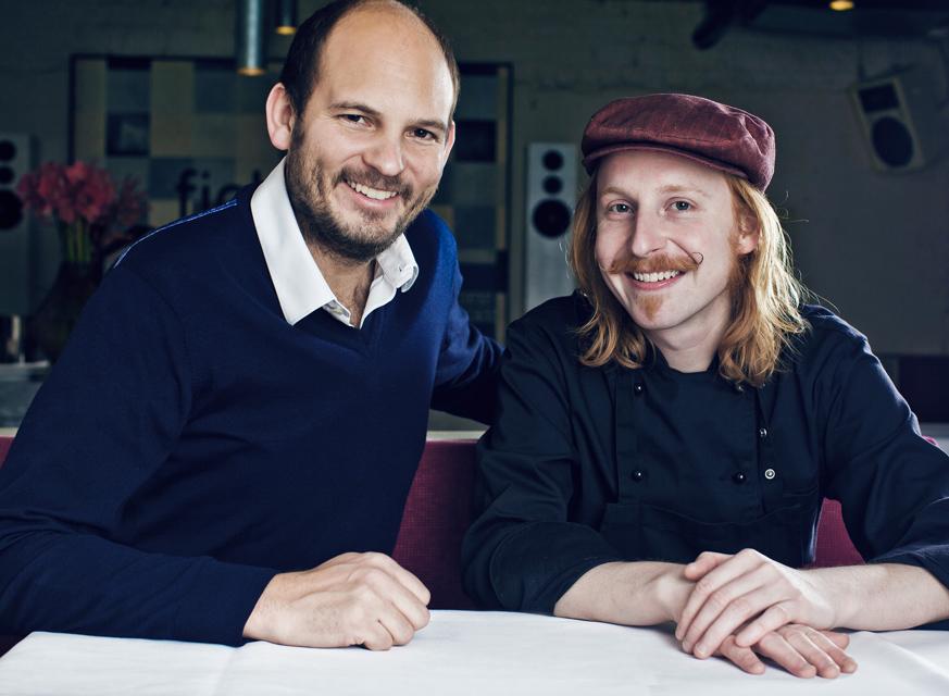 Inhaber Heinz Gindullis mit Chefkoch Stephan Hentschel